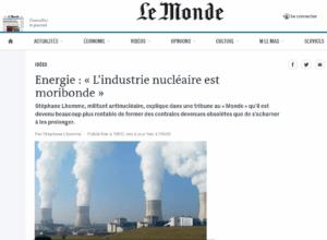 Energie : « L'industrie nucléaire est moribonde »