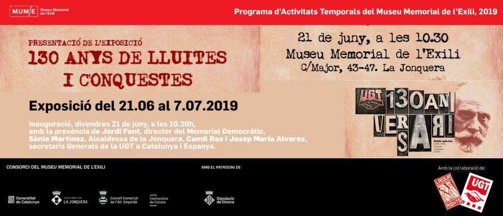 Acte institucional i presentació de l'exposició '130 anys de lluites i conquestes'