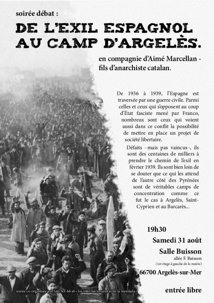De L'Exil espagnol aux camps d'Argelès